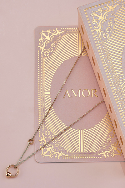 18 carat gold necklace from the Amor collection by Gramos de Amor